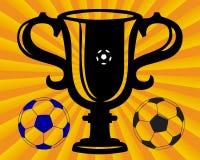 Taza del fútbol Imagenes de archivo