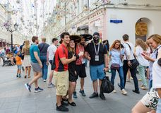 Taza del fútbol de la calle de Moscú Imagenes de archivo