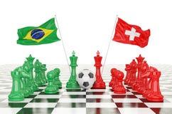 taza 2018 del fútbol de la representación 3D Fotos de archivo libres de regalías