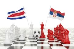 taza 2018 del fútbol de la representación 3D Imagen de archivo