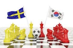 taza 2018 del fútbol de la representación 3D Foto de archivo libre de regalías