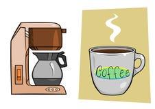 Taza del fabricante de café ilustración del vector