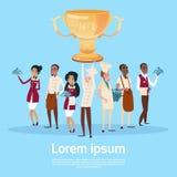 Taza del ganador del premio del control de And Waiters Service del cocinero de la materia del restaurante, Team Success Concept Foto de archivo