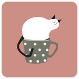 taza del gato Fotografía de archivo