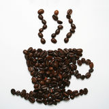 Taza del grano de café Imagenes de archivo