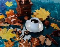 Taza del otoño de café imagenes de archivo