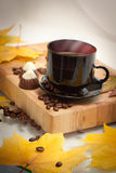 Taza del otoño de café Fotografía de archivo libre de regalías