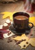 Taza del otoño de café Imágenes de archivo libres de regalías