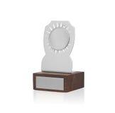 Taza del trofeo aislada Imágenes de archivo libres de regalías
