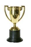 Taza del trofeo del oro fotos de archivo libres de regalías