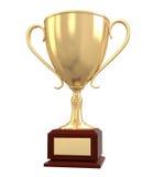 Taza del trofeo del oro Fotografía de archivo