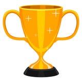 Taza del trofeo del oro Fotos de archivo