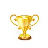 Taza del trofeo del oro Vector Imagen de archivo libre de regalías