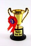 Taza del trofeo del papá Fotos de archivo libres de regalías