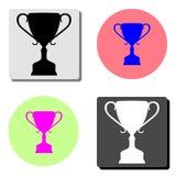 Taza del trofeo del ganador Icono plano del vector ilustración del vector