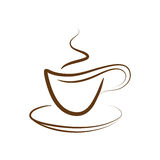 Taza del vector del café Fotografía de archivo libre de regalías