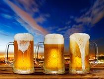 Taza del vidrio frío de cerveza Imágenes de archivo libres de regalías