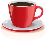 Taza detallada del vector de coffe Imagen de archivo libre de regalías