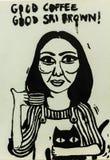 Taza dibujada mano de té fotos de archivo libres de regalías