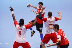 TAZA DINAMO BUCAREST - BM DEL EHF DE LOS HOMBRES DE FRAIKIN GRANOLLERS Fotos de archivo