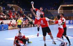 TAZA DINAMO BUCAREST - BM DEL EHF DE LOS HOMBRES DE FRAIKIN GRANOLLERS Imagenes de archivo