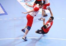 TAZA DINAMO BUCAREST - BM DEL EHF DE LOS HOMBRES DE FRAIKIN GRANOLLERS Foto de archivo