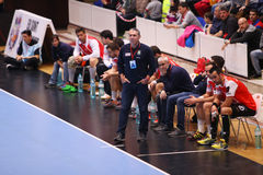 TAZA DINAMO BUCAREST - BM DEL EHF DE LOS HOMBRES DE FRAIKIN GRANOLLERS Imagen de archivo