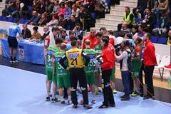 Taza Dinamo Bucarest - SC Magdeburgo del EHF de los hombres Fotos de archivo