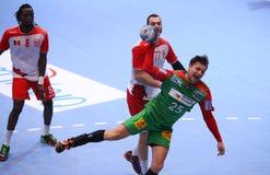 Taza Dinamo Bucarest - SC Magdeburgo del EHF de los hombres Imágenes de archivo libres de regalías