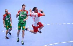 Taza Dinamo Bucarest - SC Magdeburgo del EHF de los hombres Fotografía de archivo libre de regalías
