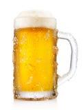 Taza escarchada de cerveza Imagen de archivo