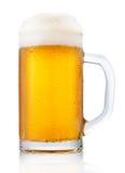 Taza escarchada de cerveza Fotos de archivo libres de regalías