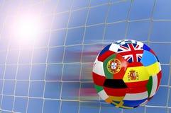 Taza euro 2012 del fútbol Fotografía de archivo libre de regalías