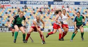 Taza europea Alemania 2011 de Inglaterra v Ireland.Hockey Foto de archivo