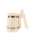 Taza hecha a mano de madera Imagen de archivo