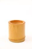 Taza hecha a mano de madera Imágenes de archivo libres de regalías