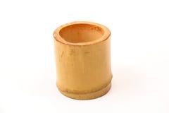 Taza hecha a mano de madera Imagenes de archivo