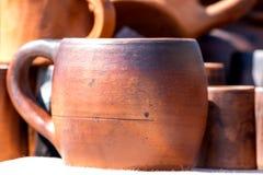 Taza hecha a mano de madera Fotografía de archivo libre de regalías