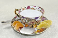 Taza lista para hacer té Imagen de archivo
