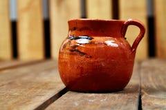 Taza mexicana del coffe de Barro Fotografía de archivo