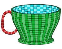 Taza (mosaico) Ilustración del Vector