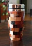 Taza multicolora del viaje Imagen de archivo libre de regalías