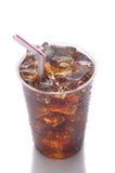 Taza plástica con soda Foto de archivo