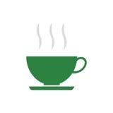 Taza plana del icono de café Fotografía de archivo libre de regalías