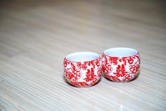 Taza que se casa tradicional china Imagenes de archivo