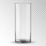 Taza realista vacía del vidrio de consumición stock de ilustración