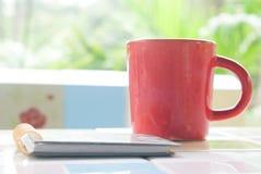 Taza roja Fotografía de archivo