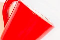 Taza roja Imágenes de archivo libres de regalías