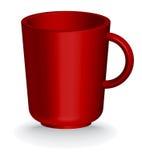 Taza roja del coffe o de té Foto de archivo libre de regalías