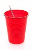 Taza roja del partido Foto de archivo libre de regalías
